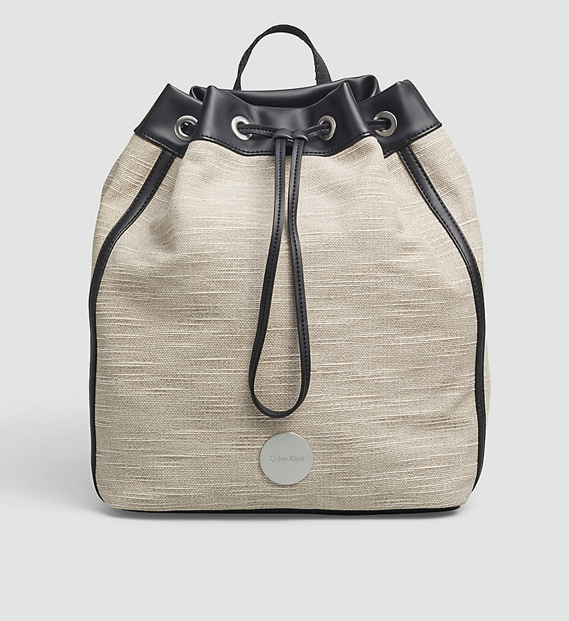 CALVINKLEIN Canvas Backpack - MUSHROOM - CALVIN KLEIN SHOES & ACCESSORIES - main image