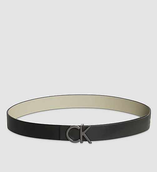CALVINKLEIN Reversible Leather Belt Gift Box - BLACK/STONE - CALVIN KLEIN BELTS - main image