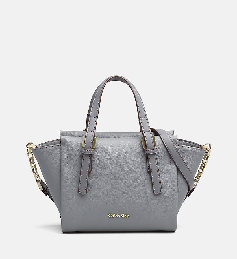 CALVINKLEIN Mini Tote Bag - STEEL GREY - CALVIN KLEIN SHOES & ACCESSORIES - main image