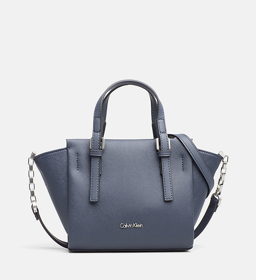 CALVINKLEIN Mini Tote Bag - BLUE NIGHT - CALVIN KLEIN SHOES & ACCESSORIES - main image