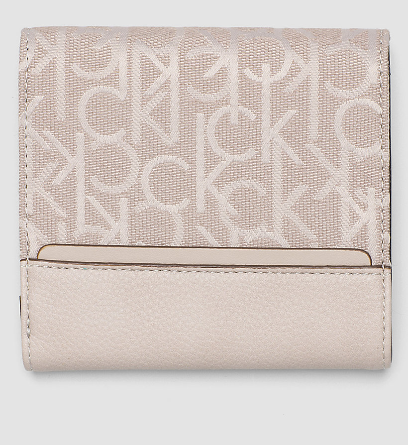 CALVINKLEIN Logo Jacquard Trifold Wallet - MUSHROOM - CALVIN KLEIN SHOES & ACCESSORIES - detail image 2