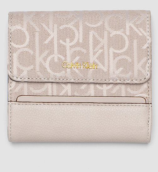 Logo Jacquard Trifold Wallet - MUSHROOM - CALVIN KLEIN SHOES & ACCESSORIES - main image