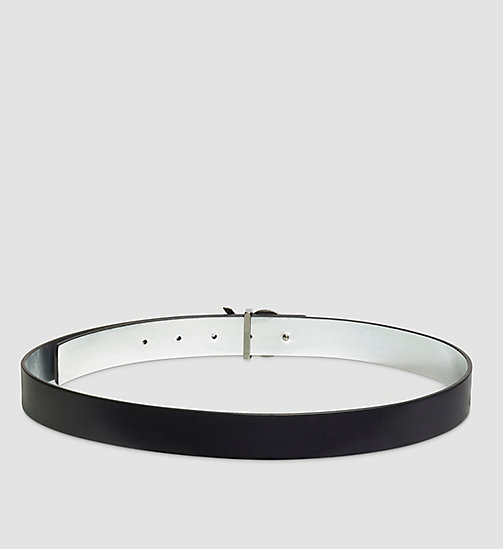 Reversible Leather Belt in Gift Box - BLACK - CALVIN KLEIN  - detail image 1