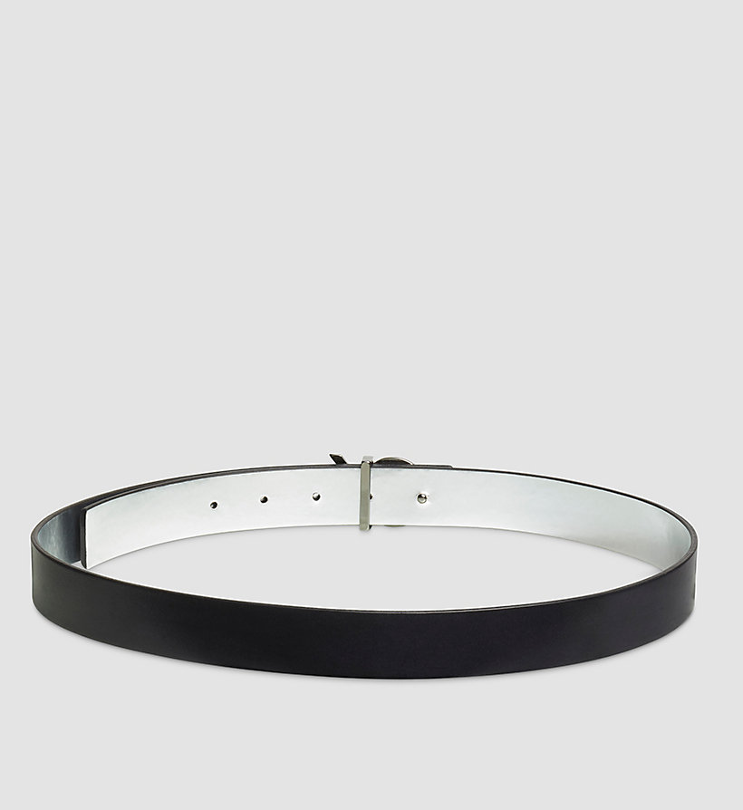 CALVINKLEIN Reversible Leather Belt in Gift Box - BLACK - CALVIN KLEIN SHOES & ACCESSORIES - detail image 1