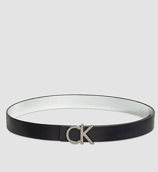 Reversible Leather Belt in Gift Box - BLACK - CALVIN KLEIN  - main image