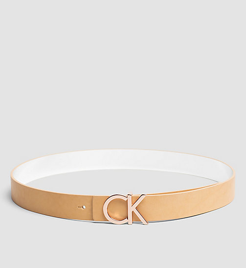 CALVINKLEIN Reversible Leather Belt in Gift Box - VACCHETTA - CALVIN KLEIN BELTS - main image