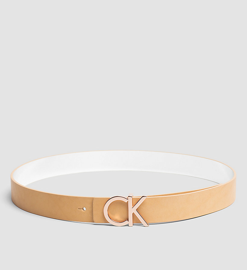 CALVINKLEIN Reversible Leather Belt in Gift Box - VACCHETTA - CALVIN KLEIN SHOES & ACCESSORIES - main image