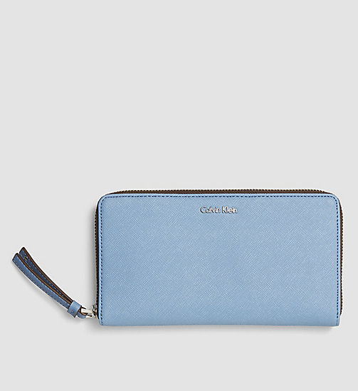 Large Ziparound Wallet - CASHMERE BLUE - CALVIN KLEIN SHOES & ACCESSORIES - main image