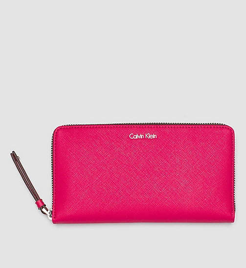 CALVINKLEIN Large Ziparound Wallet - BRIGHT ROSE - CALVIN KLEIN WALLETS - main image