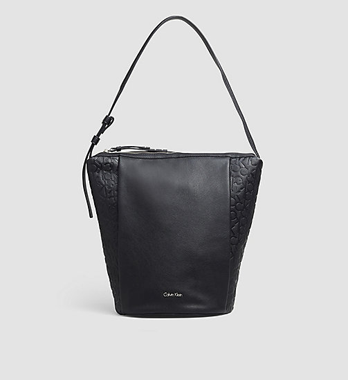 CALVINKLEIN Elongated Bucket Bag - BLACK - CALVIN KLEIN HOBO BAGS - main image