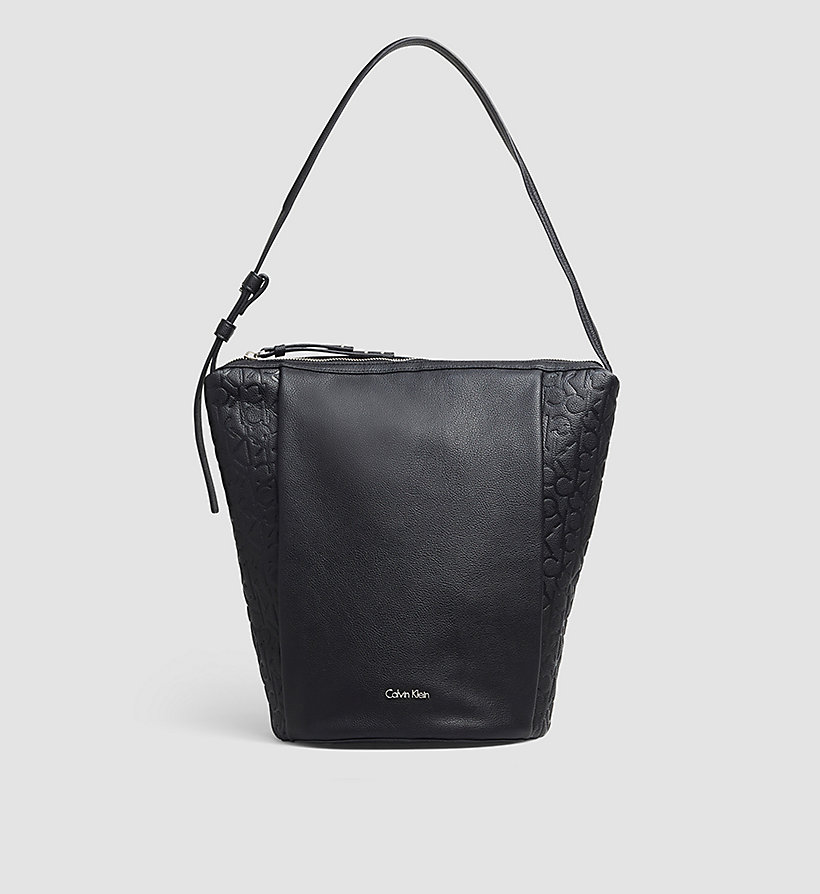 CALVINKLEIN Elongated Bucket Bag - BLACK - CALVIN KLEIN SHOES & ACCESSORIES - main image