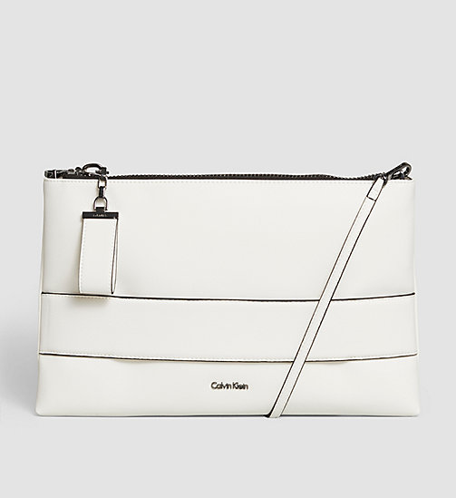 CALVINKLEIN Large Clutch - POWDER WHITE - CALVIN KLEIN CLUTCH BAGS - main image