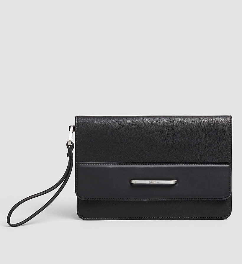 CALVINKLEIN Clutch - BLACK - CALVIN KLEIN SHOES & ACCESSORIES - main image