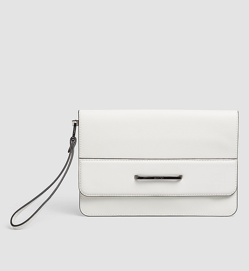 CALVINKLEIN Clutch - POWDER WHITE - CALVIN KLEIN SHOES & ACCESSORIES - main image