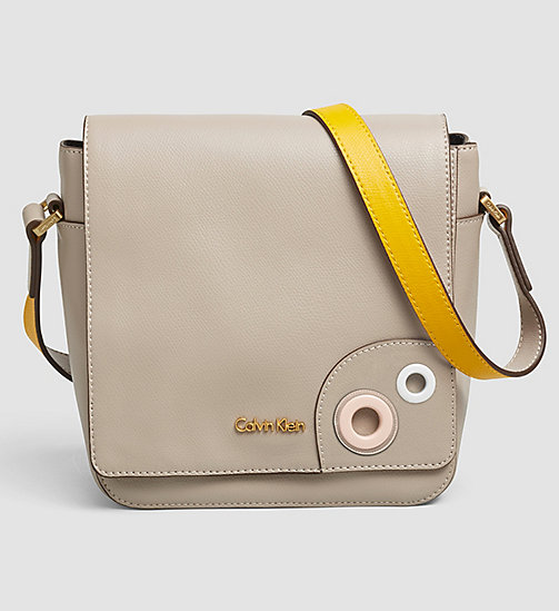 CALVINKLEIN Leather Flap Crossover - MUSHROOM - CALVIN KLEIN CROSSOVER BAGS - main image