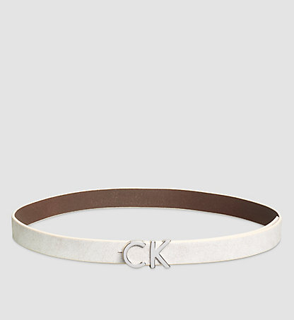 CALVIN KLEIN Crackle Leather CK Buckle Belt K60K602714102