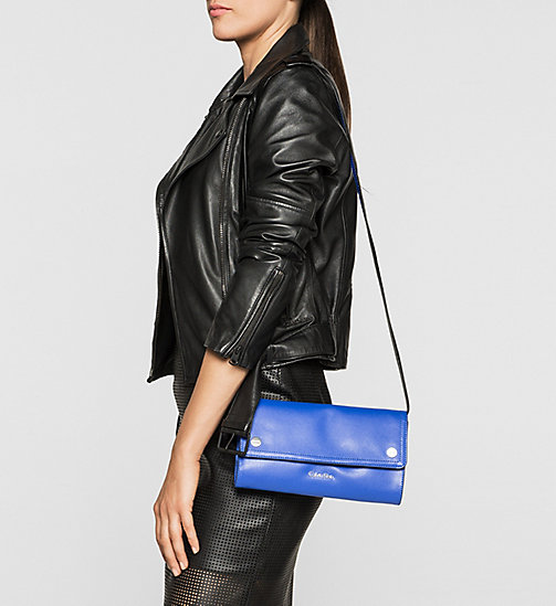 CALVINKLEIN Leather Clutch - DAZZLING BLUE - CALVIN KLEIN BAGS - detail image 1