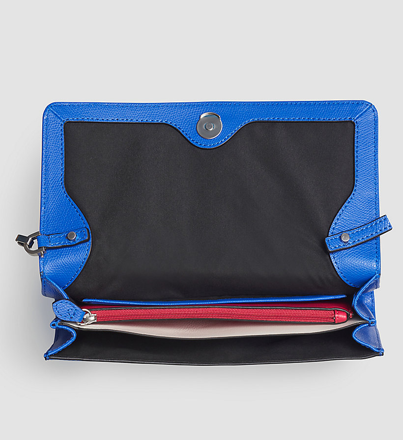CALVINKLEIN Leather Clutch - DAZZLING BLUE - CALVIN KLEIN SHOES & ACCESSORIES - detail image 2
