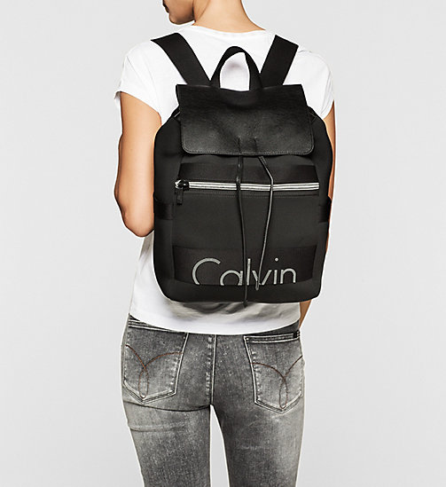 CKJEANS Neoprene Backpack - BLACK - CK JEANS BACKPACKS - detail image 1