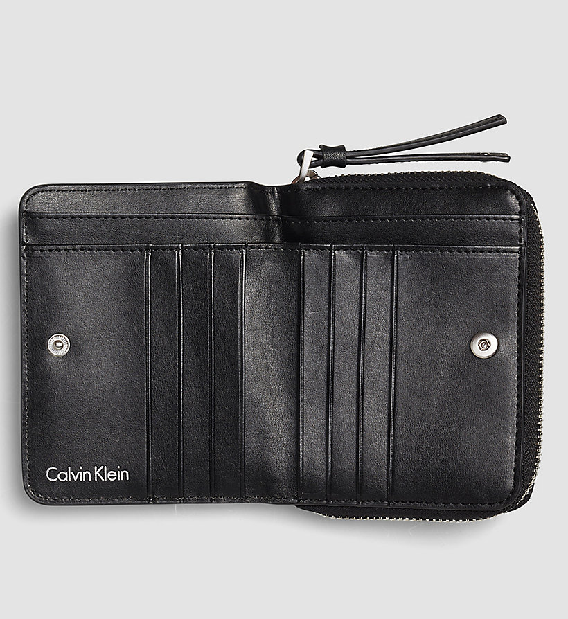 CALVINKLEIN Medium Flap Ziparound Wallet - BLACK - CALVIN KLEIN SHOES & ACCESSORIES - detail image 1