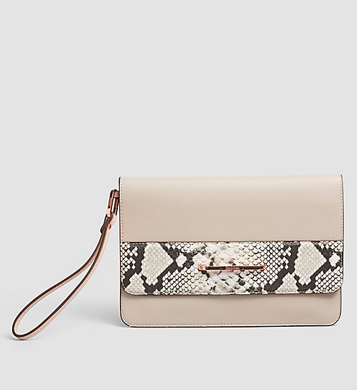 CALVINKLEIN Snake Trim Clutch - MUSHROOM - CALVIN KLEIN VIP SALE WOMEN - main image
