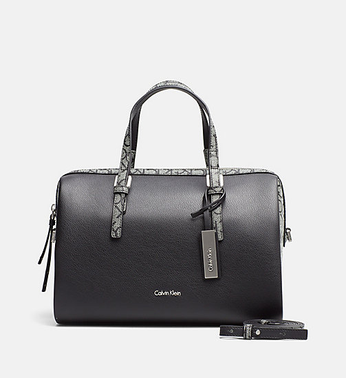 CALVINKLEIN Logo Duffle Bag - GRANITE MONOGRAM - CALVIN KLEIN GIFTS FOR HER - main image
