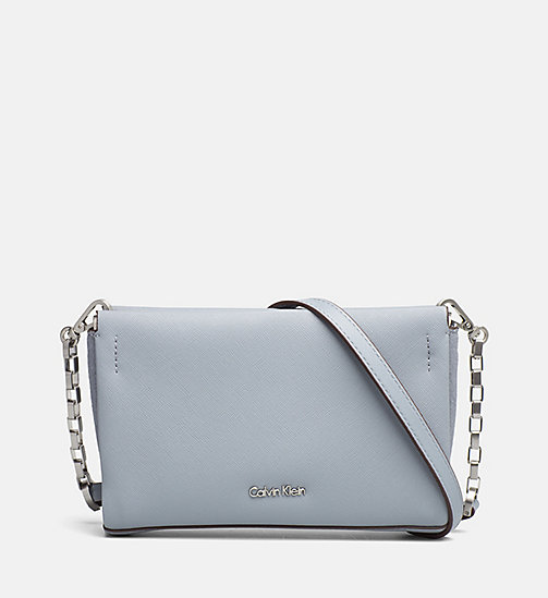 CALVINKLEIN Textured Crossover Clutch - MINERAL - CALVIN KLEIN SHOES & ACCESSORIES - main image