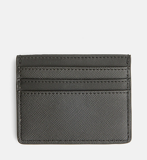 CALVINKLEIN Textured Cardholder - BLACK - CALVIN KLEIN SHOES & ACCESSORIES - detail image 1