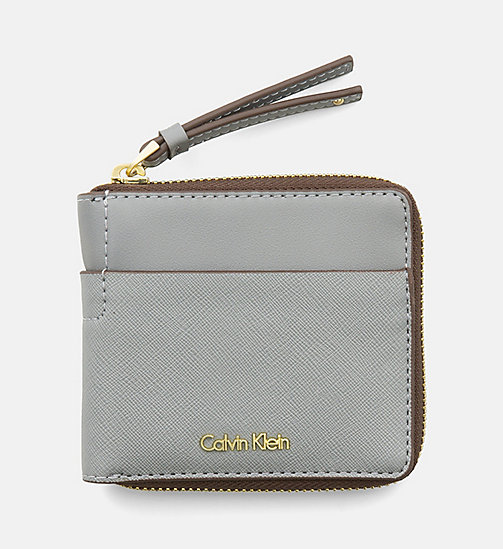 CALVINKLEIN Small Zip-Around Wallet - STEEL GREY - CALVIN KLEIN  - main image