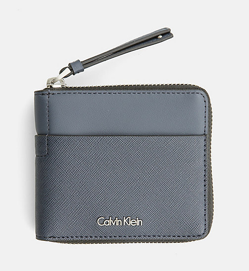 CALVINKLEIN Small Zip-Around Wallet - BLUE NIGHT - CALVIN KLEIN  - main image