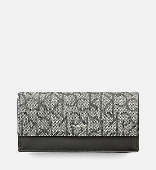 CALVINKLEIN Large Slim Trifold Wallet - GRANITE MONOGRAM - CALVIN KLEIN SHOES & ACCESSORIES - main image
