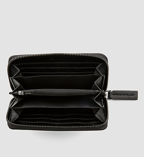 CALVINKLEIN Large Zip-Around Wallet - BLACK - CALVIN KLEIN SHOES & ACCESSORIES - detail image 1
