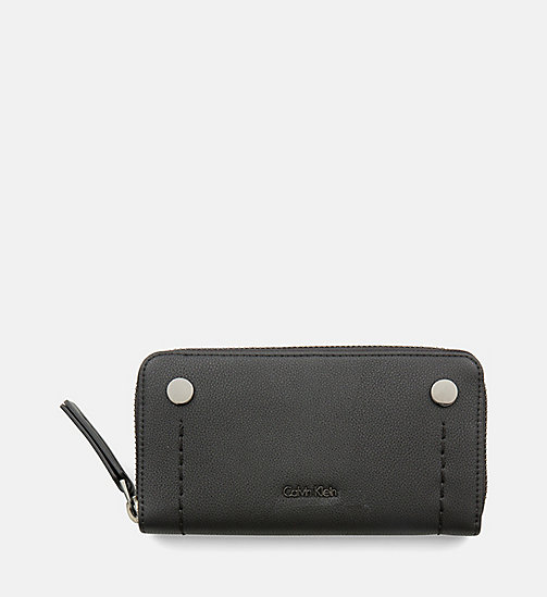 CALVINKLEIN Large Zip-Around Wallet - BLACK - CALVIN KLEIN SHOES & ACCESSORIES - main image