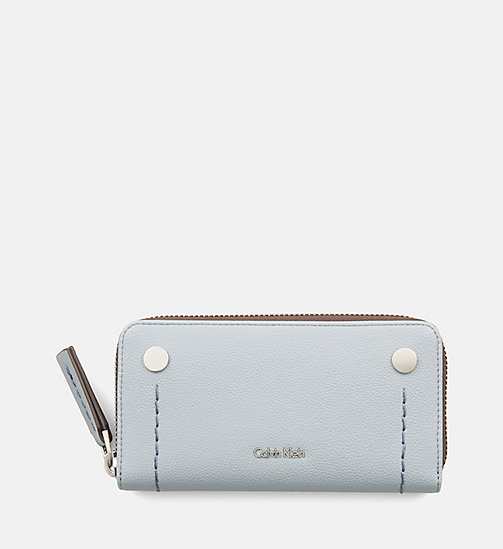 CALVINKLEIN Large Zip-Around Wallet - MINERAL - CALVIN KLEIN SHOES & ACCESSORIES - main image