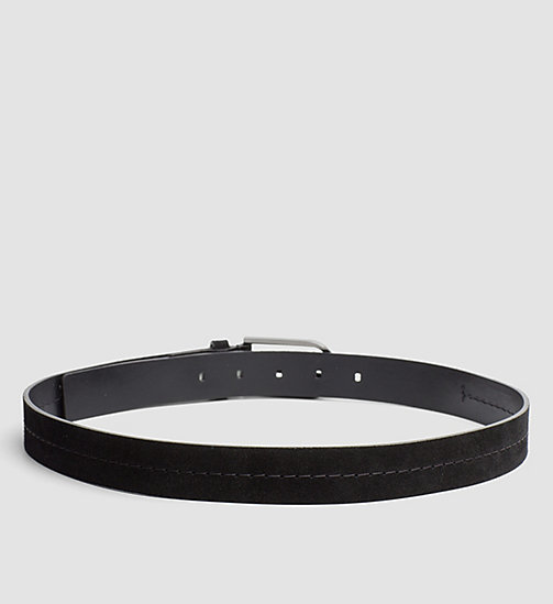 Suede Belt - BLACK - CALVIN KLEIN SHOES & ACCESSORIES - detail image 1