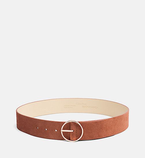CALVINKLEIN Leather Waist Belt - HENNA - CALVIN KLEIN  - main image