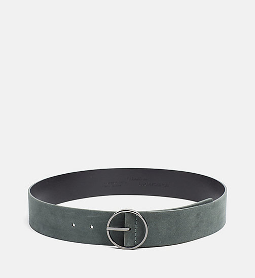 CALVINKLEIN Leather Waist Belt - IVY - CALVIN KLEIN BELTS - main image