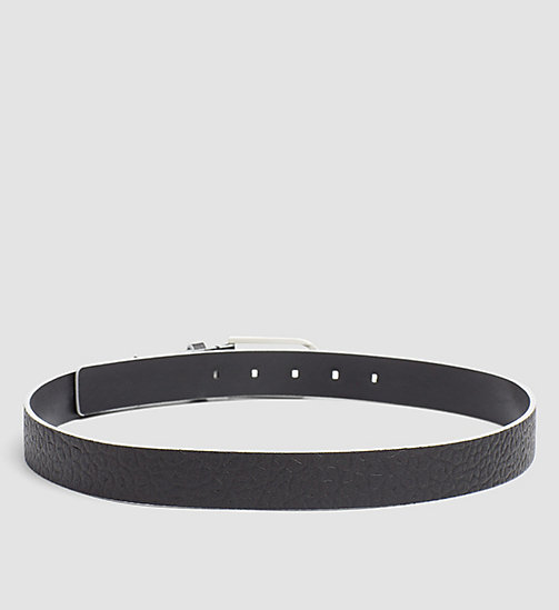 CALVINKLEIN Leather Belt - BLACK - CALVIN KLEIN  - detail image 1