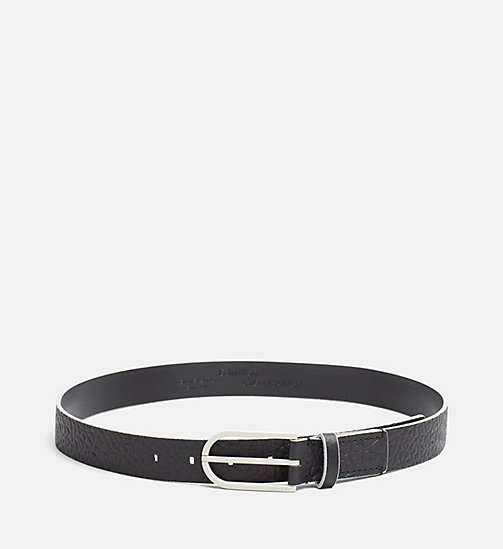 CALVINKLEIN Leather Belt - BLACK - CALVIN KLEIN  - main image