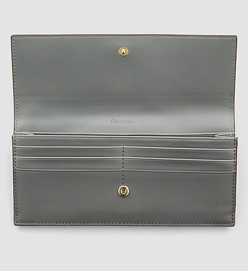 CALVINKLEIN Large Textured Trifold Wallet - STEEL GREY - CALVIN KLEIN WALLETS - detail image 1