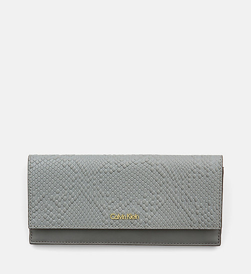 CALVINKLEIN Large Textured Trifold Wallet - STEEL GREY - CALVIN KLEIN WALLETS - main image