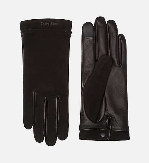 Casual Leather Gloves - BLACK - CALVIN KLEIN SHOES & ACCESSORIES - main image