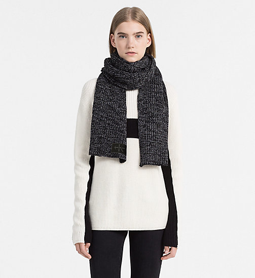 Wool Blend Scarf - BLACK - CALVIN KLEIN SHOES & ACCESSORIES - detail image 1