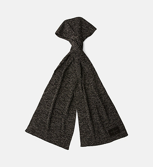 Wool Blend Scarf - BLACK - CALVIN KLEIN SHOES & ACCESSORIES - main image