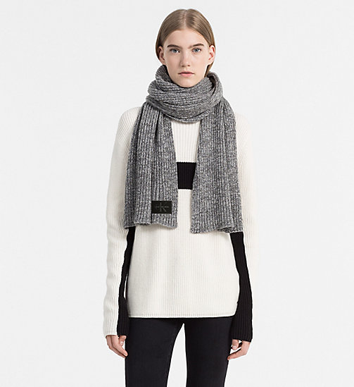 Wool Blend Scarf - STEEL GREY - CALVIN KLEIN SHOES & ACCESSORIES - detail image 1