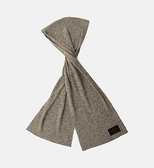 Wool Blend Scarf - STEEL GREY - CALVIN KLEIN SHOES & ACCESSORIES - main image
