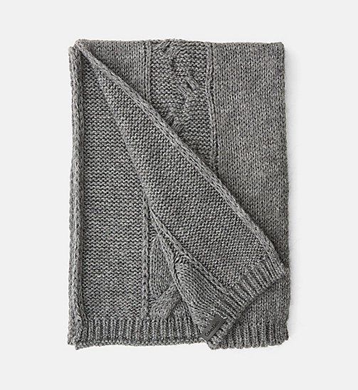 CALVINKLEIN Cable Scarf - STEEL GREY MIX - CALVIN KLEIN COLD COMFORTS - main image