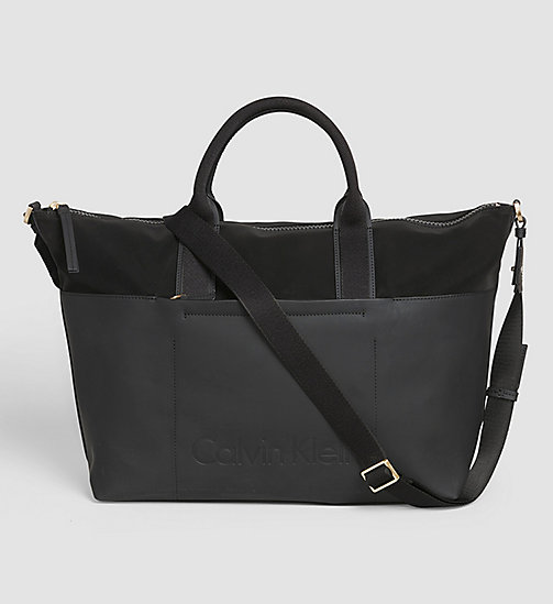 CALVINKLEIN Large Tote Bag - BLACK - CALVIN KLEIN ACTION-PACKED - main image