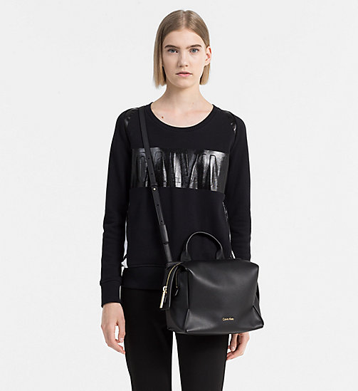 CALVINKLEIN Medium Satchel-Bag - BLACK - CALVIN KLEIN SATCHEL - main image 1