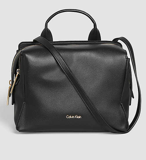 CALVINKLEIN Medium Satchel - BLACK - CALVIN KLEIN SATCHELS - main image